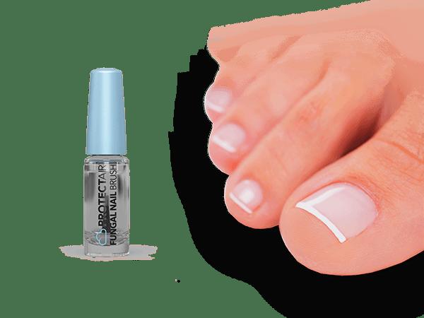 Behandle die infizierten Nägel.