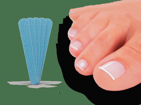 Bevor Sie den Nagelpilz Lösung verwenden, entfernen Sie den Nagellack und verwenden Sie eine der Nagelfeilen, um den Nagel vollständig zu feilen.