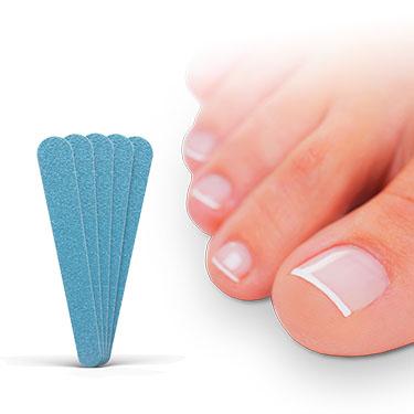 Schritt 1: Feilen Sie den infizierten Nagel 1x pro Woche mit den mitgelieferten Nagelfeilen